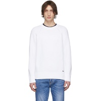 White Plain Pullover Sweater