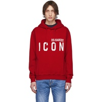Red 'Icon' Hoodie