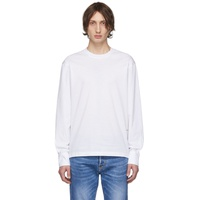 White Stud Fit Long Sleeve T-Shirt