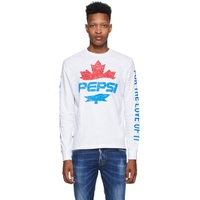 White Pepsi Edition Surf Fit Long Sleeve T-Shirt