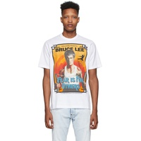 White 'Bruce Lee' Slouch Fit T-Shirt