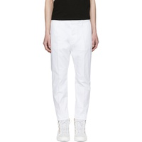 White Hockney Trousers