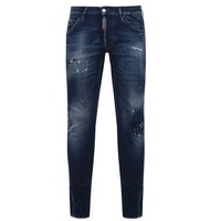 Dsquared2 Knee Patch Slim Fit Jeans