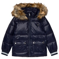 Diesel Navy Padded Puffer Hooded Coat