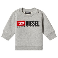 Diesel Grey Denim Division Logo Sweatshirt