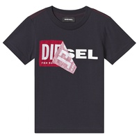 Diesel White Double Logo Applique T-Shirt