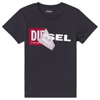Diesel Navy Double Logo Applique T-Shirt