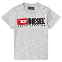 Diesel Grey Denim Division Baby T-Shirt