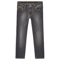 Diesel Grey Washed Sleenker Skinny Fit Jeans