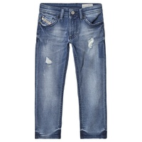 Diesel Blue Distressed Thommer Slim Skinny Jog Jeans