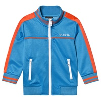 Diesel Blue and Orange Branded Tricot Track Jacket