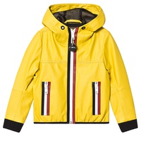 Diesel Yellow Ecoleather Hooded Jacket