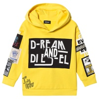 Diesel Yellow Multi Patch Branded Hoodie