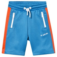 Diesel Blue and Orange Branded Tricot Shorts