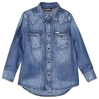 Diesel Blue Mid Wash Denim Shirt