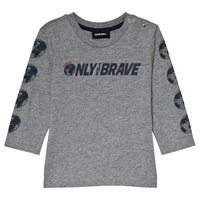 Diesel Gray Only the Brave Branded Long Sleeve T-Shirt