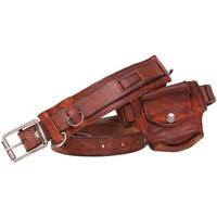 Diesel - Vintage Effect Leather Belt BRAV Marron