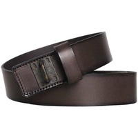 Diesel BLACK GOLD - Leather Belt BINDIE Marron