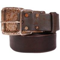 Diesel - Vintage Effect Leather Belt BENNY Marron