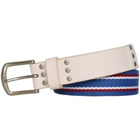 Diesel - Leather and Cotton Belt BAGA bleu