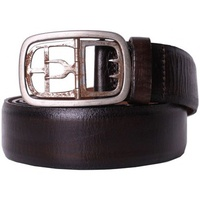 Diesel BLACK GOLD - Leather Belt BATTISTA Marron
