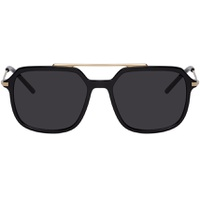 Black & Gold Slim Sunglasses