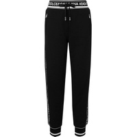 Dolce & Gabbana Intarsia-trimmed cotton-jersey track pants
