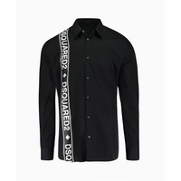 Dsquared2 - Tape Front Logo Shirt - Black