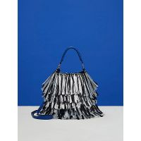 e058ff1c0b Dvf Large Raffia Fringe Bucket Bag