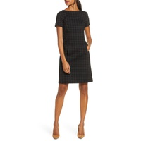FOREST LILY Plaid Shift Dress
