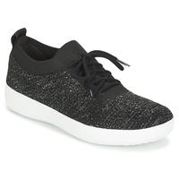 FitFlop F SPORTY UBERKNIT SNEAKERS CRYSTAL Black