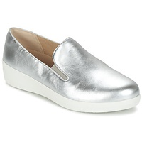 FitFlop SUPER SKATE LEATHER Silver