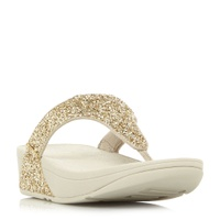 FitFlop Glitterball Toe Glitter Toe Post Sandals