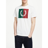 Fred Perry Split Laurel Wreath T-Shirt, Snow White