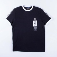 Fred Perry x Art Comes First Ringer T-Shirt Black