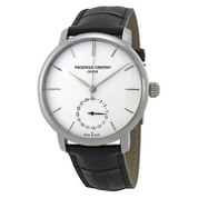 Frederique Constant Slimline Automatic Silver Dial Black Leather Watch FC-710S4S6