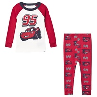 Gap New Off White and Red Cars Pyjamas