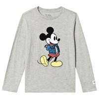 Gap Heather Grey Mickey Mouse T-Shirt