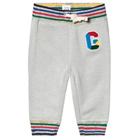 Gap Grey Crazy Stripe Logo Sweatpants