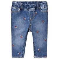 Gap Medium Wash Flower Emroided Jeggings