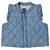 Gap Light Wash Quilted Puffer Vest