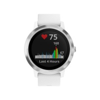 Garmin Vivoactive 3 GPS Smartwatch with Contactless Payment and HR, White/Stainless