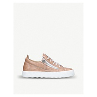 GIUSEPPE ZANOTTI Nicki low-top python-embossed leather trainer
