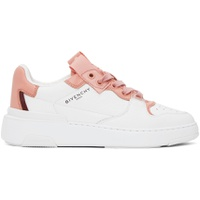 Pink & White Wing Sneakers