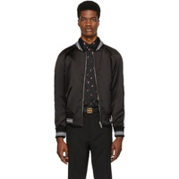 Givenchy Reversible Black Monster Embroidered Varsity Bomber Jacket