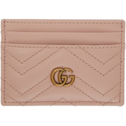 Pink GG Marmont Card Holder