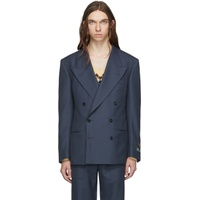Blue Drill Military Blazer