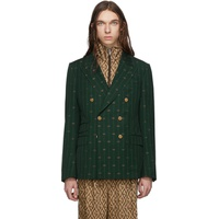 Green GG Striped Signoria Blazer
