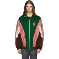 Green G Rhombus Patch Zip Jacket