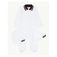 GUCCI Logo three-piece baby set 0-12 months